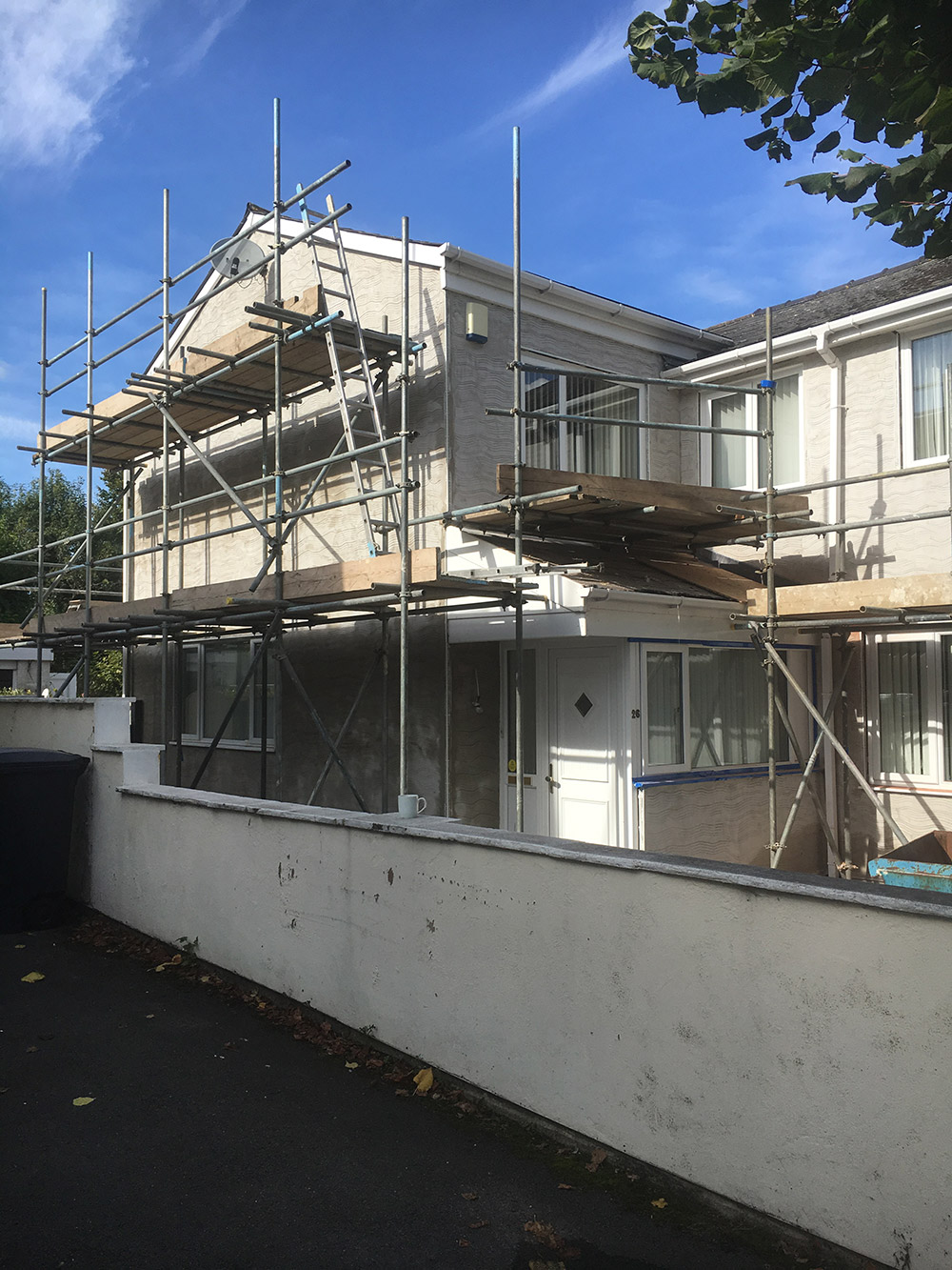 All scaffolding is erected by a professional and fully insured company.